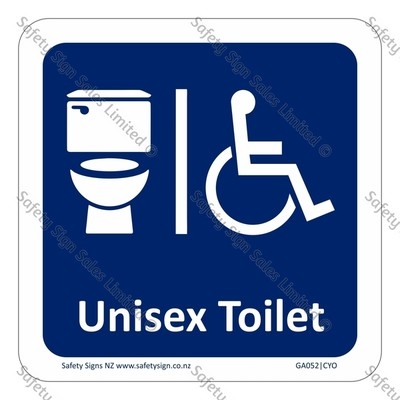 GA052|CYO - Accessible Toilet Sign