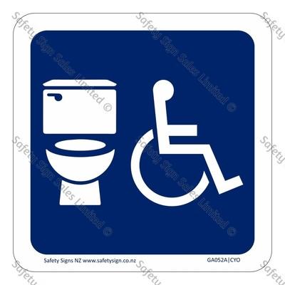CYO|GA052A – Accessible Unisex Toilet Symbol