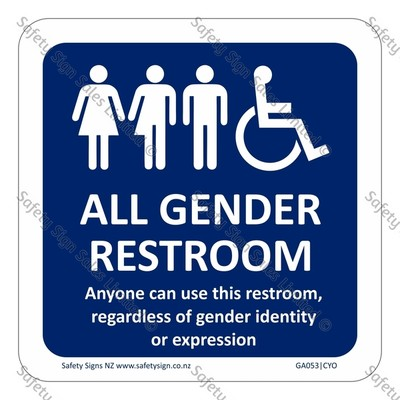GA053|CYO - All Gender Restroom Sign