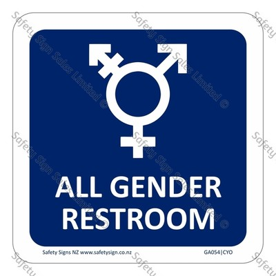 GA054|CYO - All Gender Restroom Sign