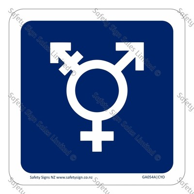 GA054A|CYO - All Gender Restroom Sign