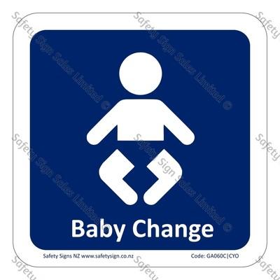 CYO|GA060C – Baby Change Sign