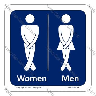 CYO|GA062 – Humorous Toilet Sign