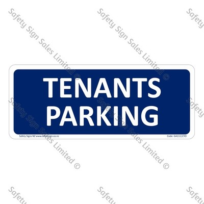 GA111|CYO - Tenants Parking Sign