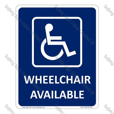 CYO|GA131B – Wheelchair Available Sign
