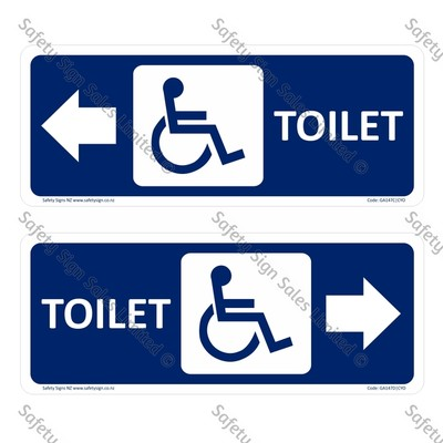 CYO|GA147CD – Accessible Toilet Sign + Arrow