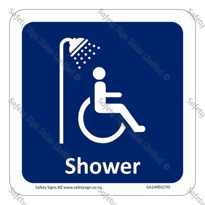 CYO|GA149D – Accessible Shower Sign