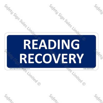GA157|CYO - Reading Recovery Sign