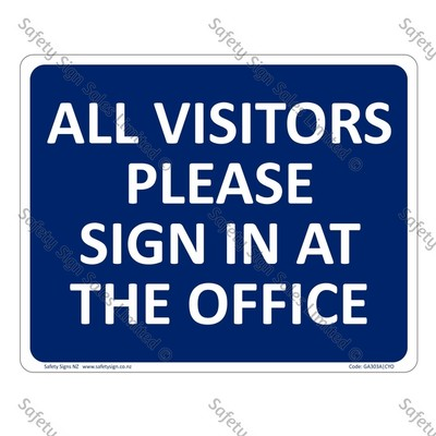 CYO|GA303A – Visitor Sign in Sign