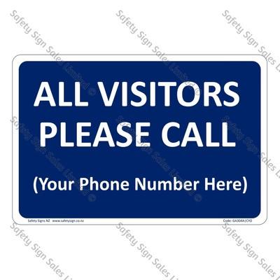 CYO|GA304A – All Visitors Please Call Sign
