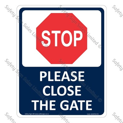 GA307B|CYO - Please close the Gate