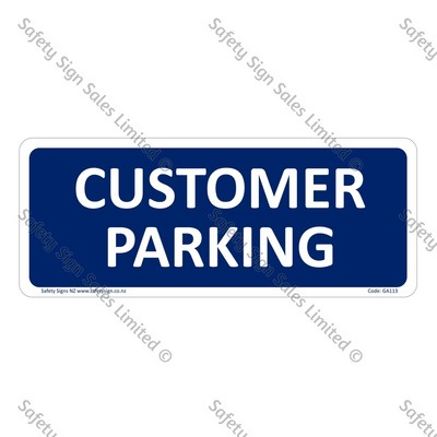 CYO|GA113 – Customer Parking Sign