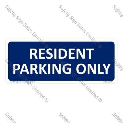 GA114 - Resident Parking Only
