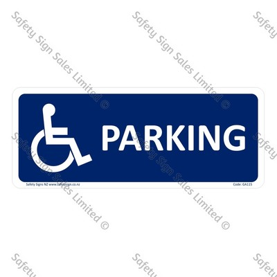 GA115 - Accessible Parking Sign