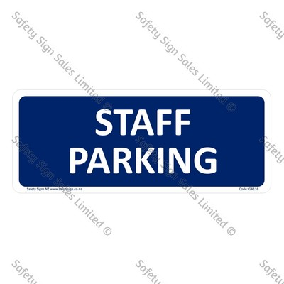 CYO|GA116 – Staff Parking Sign