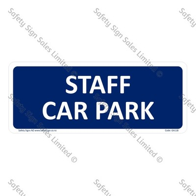 CYO|GA118 – Staff Car Park Sign
