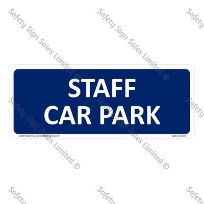 GA118 - Staff Car Park Sign