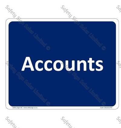 CYO|GA125 – Accounts Sign