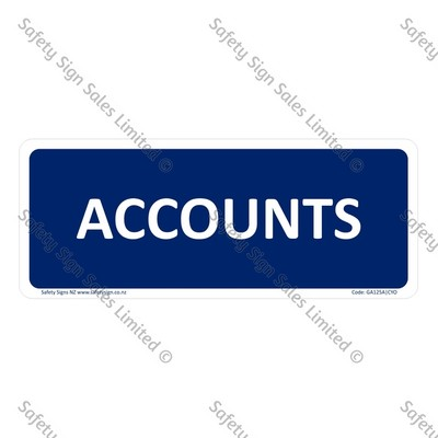 GA125A|CYO - Accounts Sign