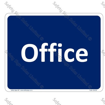 GA126 - Office Sign