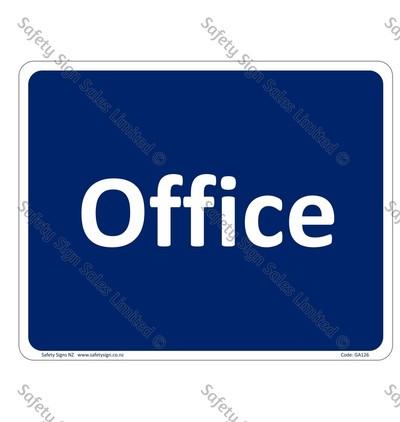 GA126 – Office Sign