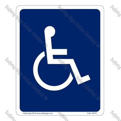 GA131 – Accessible Symbol Sign