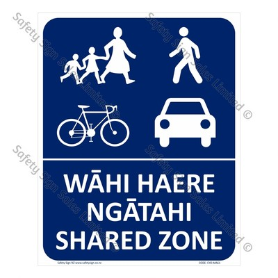 CYO-MA61 Shared Zone Bilingual Sign