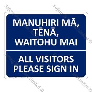 CYO|MGA303 - All visitors please sign in Bilingual Sign