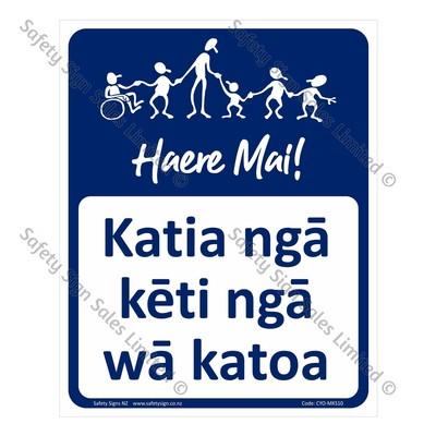 CYO|MKS10A - Katia ngā kēti i ngā wā katoa Sign