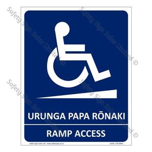CYO|MRA - Ramp Access Bilingual Sign