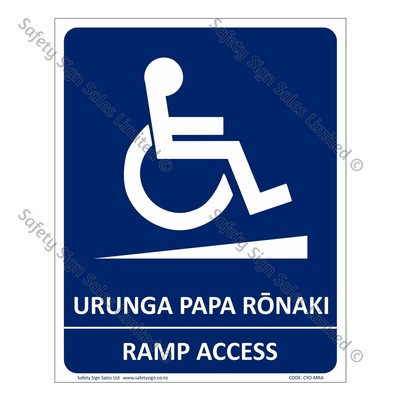 CYO|MRA - Ramp Access Bilingual Sign