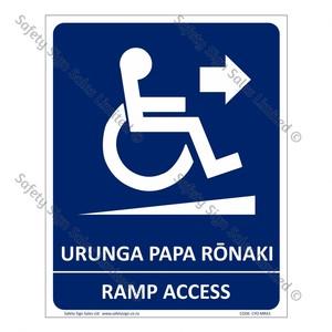 CYO|MRA1 - Ramp Access Bilingual Sign