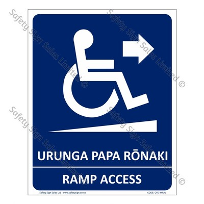 CYO|MRA1 - Ramp Access Bilingual Sign