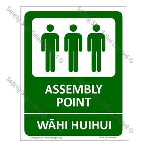 CYO|MSC49B - Fire Assembly Point Bilingual Sign