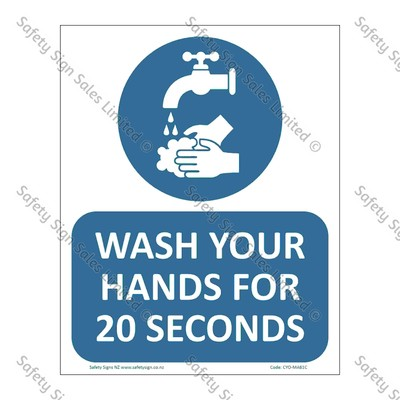 CYO|MA61C - Wash Your Hands for 20 seconds