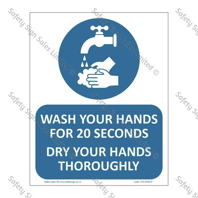 CYO|MA61D - Wash Your Hands for 20 seconds