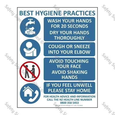 CYOMA61E - Best Hygiene Practice Sign Coronavirus Sign
