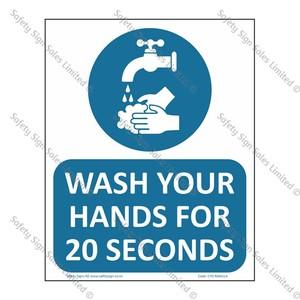 CYO|MA61LA - Wash Hands for 20 Seconds Label