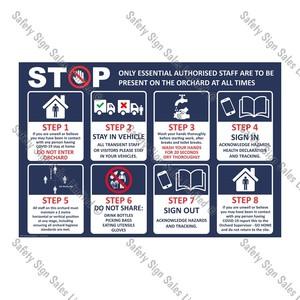 CYO|CV04 - COVID-19 ORCHARD Safety Sign