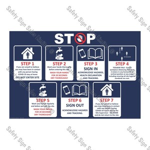 CYO|CV05 - Site Safety Sign COVID-19