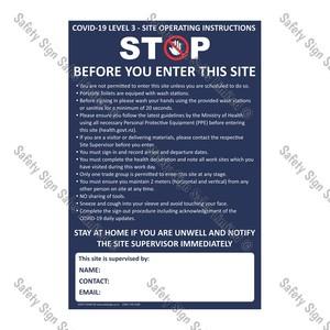 CYO|CV06 - Site Operating Instructions COVID-19