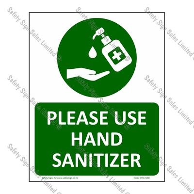 CYO|CV08 – Please use Hand Sanitizer Sign