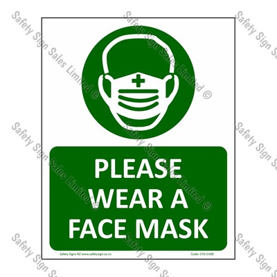 CYO|CV09 – Please Wear a Face Mask – COVID-19 Sign