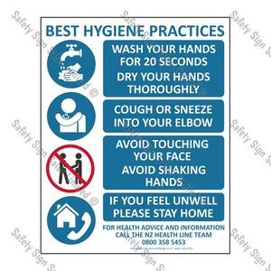 CYO|CV13 - Best Hygiene Practice Sign COVID-19