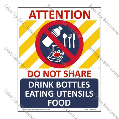 CYO|CV16 – No Sharing Sign