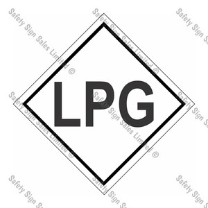 CYO|DGLPG - LPG Dangerous Good Sign