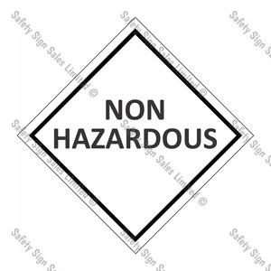 CYO|DGNH - Non Hazardous Dangerous Good Sign