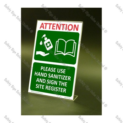 CYO|CV12S – Use Hand Sanitizer and Sign Register Sign