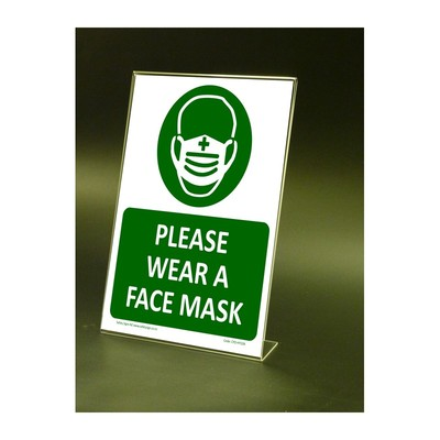 CYO CV09S – Wear Face Mask Counter-top Sign