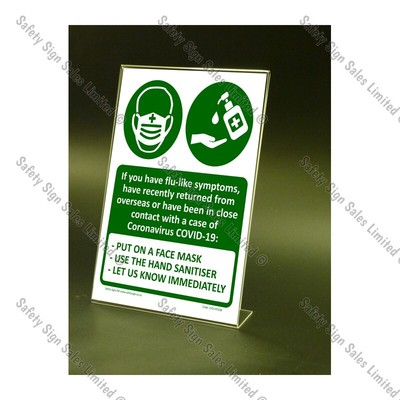 CYO|CV10S – Hand Sanitiser & Mask Counter-top Sign